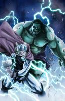 Thor Vs. Hulk by MarkHRoberts