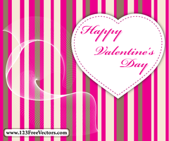 Valentine Card Vector by 123freevectors