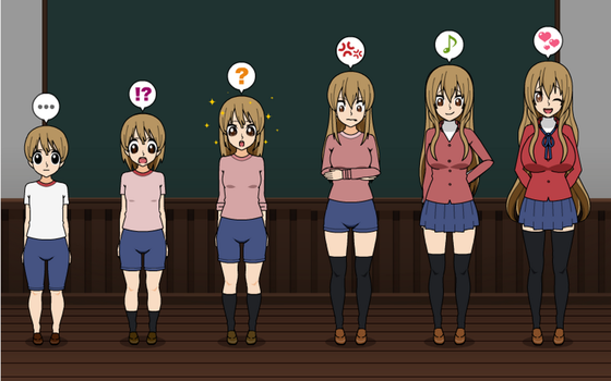 Tsundere Queen: Taiga Aisaka TF TG Sequence by greenflame456