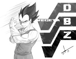 DBZ VEGETA by julius2611