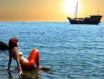 Mermaid Rose and the tourist scow II by sirenabonita