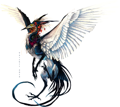 New Year Heron Design by NukeRooster