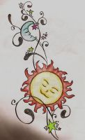 Sun, Moon, And Stars 2 by ccrum