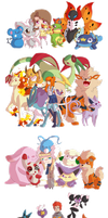 PKMN Trainers with kawaii eyes - Part #1 by Hetaloid