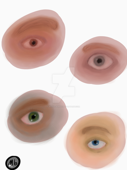 Eyes Painting by Maxie-Bunny