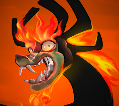 Aku dragon form by MyLittleGodzilla