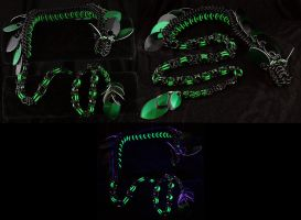 Black and Green Chainmaille Dragon by Ichi-Black