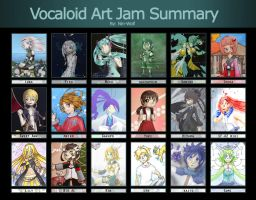 Vocaloid Art Jam Summary by Nin-Wolf