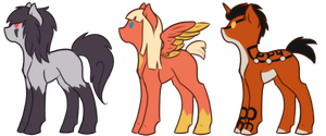 pony adoptables AUCTION #2 :CLOSED: by SamuraiAdopts