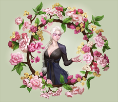 Flower Druid by PuddingPack