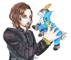 Athos meets Little Cobalion by Egocaina