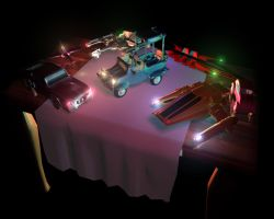 3D vehicles by marcocano