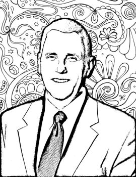 Mike Pence Coloring Book Page by Sinclairissa