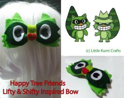 Happy Tree Friends inspired bow by lkcrafts