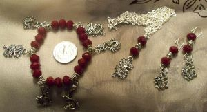 Red Dragon- Jewelry set by Destinyfall