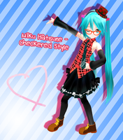 Appearance Miku Hatsune - Checkered DL by G123u
