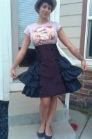 Loli Goth skirt by Selkie33