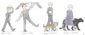 The Cabin Crew and their Daemons by kkbook