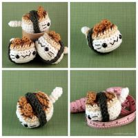 Unagi Nigiri Cat by pocket-sushi