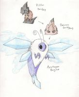Woolly Bear Fakemon Line by sweetinsanity364