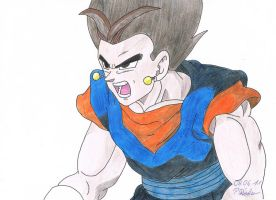 Vegetto scream coloured by Vegetto90