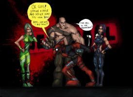 DEADPOOL GAME:LIKE A BOSS! by Sabrerine911