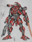Battle mech Robotic war elf by Sofa-King-Leet