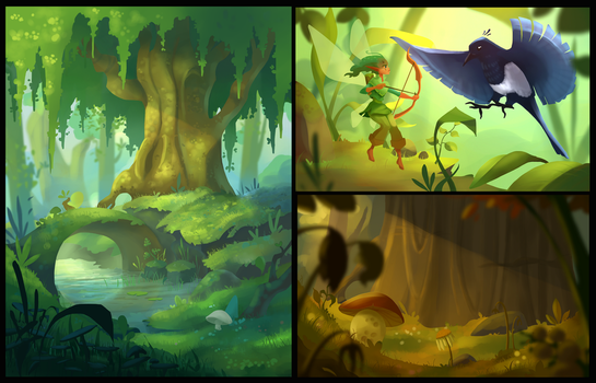 Commission: Pixies of Jumble Wood by ApollinArt