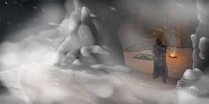 DayZ - Snowy Mountain Cave by LordSarito