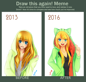 Meme: Draw this again [Toyo] by lepler
