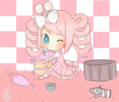 Contest entry: Cupcake-Kitty-chan by RibbonDrop