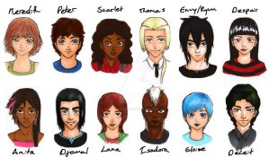 My OCs by JoeyHazelLM