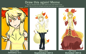 Improvement Meme:  Fennekin Evolution by YukiraHanou