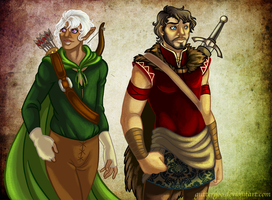 Commish: Anguath and Olohorn by Guttergoo