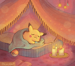 goodnight, pikachu by Paleona