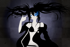 Black Rock Shooter - lineless by MagicMoonBird