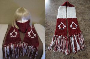 Red Assassins Creed Scarf by samanthawagner