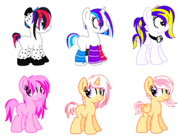 Pony Adoptables{Auction} by xPixels-Puff-Adoptsx