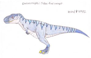 T-rex final concept by Dinoboy134