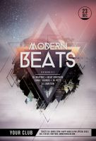 Modern Beats Flyer by styleWish