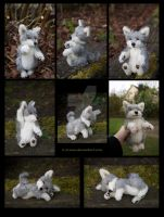 SOLD Plushie: Coinin the Wolf Teddy by Avanii