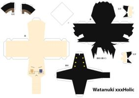 Watanuki Papercraft by MissInDenial