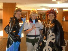 Demyx, Roxes, and Axel by BoxHeadFreak
