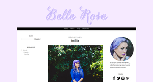 Belle Rose Blogger Template by candypow