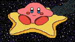 Kirby and his Warp Star (Pixelated) by ShadowChaos24