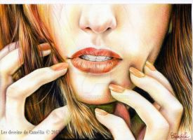 Shiny lips by Camelia-07