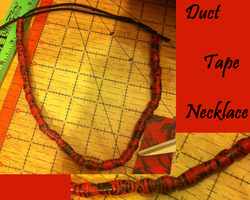 Duct Tape Beaded Necklace by GuardianKrayla