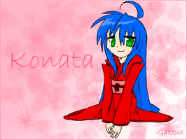 Konata Wallpaper by gateux
