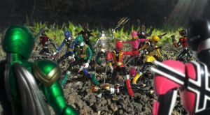Super Sentai vs Kamen Rider by 0PT1C5