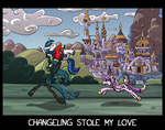 Changeling stole my love by Senselesssquirrel